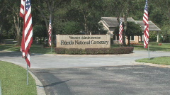 Florida National Cemetery Clip 1 Stock Footage