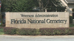 Florida National Cemetery Clip 2 Stock Footage