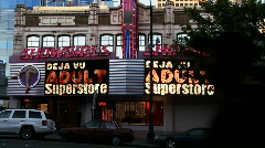Showgirls adult bookstore Stock Footage