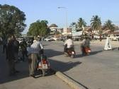 Buzzy street in Stonetown, Zanzibar Stock Footage