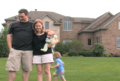 Family and Luxury Home 3 Stock Footage