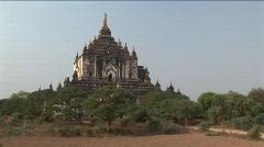 Thatbyinnyu Temple in Bagan, Burma Myanmar Stock Footage