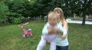 Mother plays with a daughter. Stock Footage