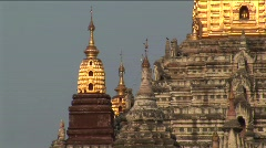 Ananda temple in Bagan, Burma Myanmar Stock Footage