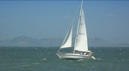 Sailboat on water Stock Footage
