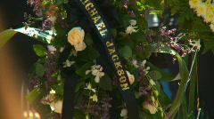 Michael Jackson Memorial 01 Stock Footage