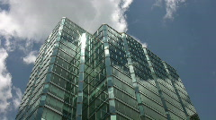Blue green office tower. Timelapse shot. Stock Footage