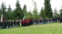 Union army marching 674-1c Stock Footage