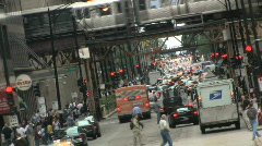City Street, Canted Stock Footage