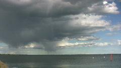 Rain cloud over the sea Stock Footage