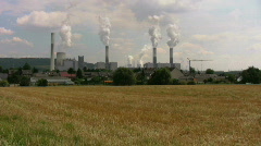 Stock Video Footage of Polluted village