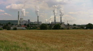 Polluted village Stock Footage