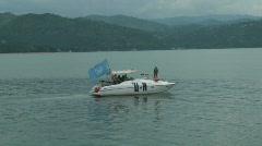 UN Boat 2 (HD) Stock Footage