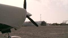 Airplanes on Landing Strip (Exuma, Bahamas) Stock Footage