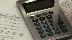 Filing taxes - HD  Stock Footage