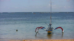 Boat by the beach Stock Footage