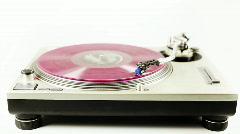Headphone music dj vintage retro turntable party audio sound Stock Footage