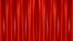Red Curtain Opening to Green Screen HD1080 Stock Footage
