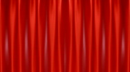 Stock Video Footage of Red Curtain Opening to Green Screen HD1080