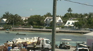 Stock Video Footage of Island Harbor Lifestyle Elevated View