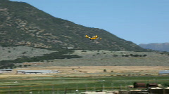 Crop duster yellow farm pt2 P HD 1039 Stock Footage