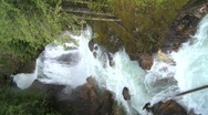 Stock Video Footage of vertical, waterfall in forest, #1