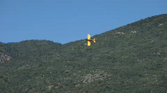 Crop duster yellow mountain turn P HD 1043 Stock Footage