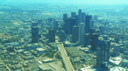 Stock Video Footage of Aerial Los Angeles 01