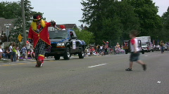 Clowns in 4th of July Parade Stock Footage