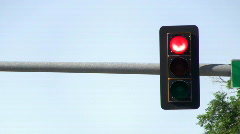 Traffic Light Full Sequence Stock Footage