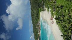 Perfect beach vertical closer Stock Footage
