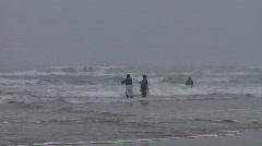 Surf fishing Stock Footage