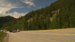 Trucking, transport trucks in the mountains  Stock Footage