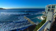 Bondi Beach in Sydney during winter PT1 Stock Footage