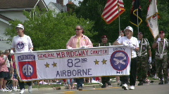 82nd Airborne in Parade Stock Footage