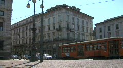 Stock Video Footage of Tram in Milan 01