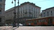 Tram in Milan 01 Stock Footage