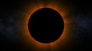 Stock Video Footage of Ominous Solar Eclipse (24fps)