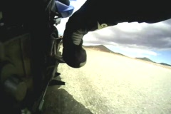 Motorcycle Left Foot Stock Footage