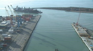 Stock Video Footage of arriving ship time lapse