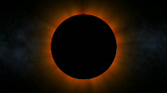 Ominous Solar Eclipse (30fps) Stock Footage