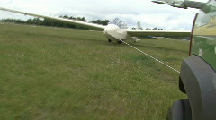 Pulling a glider plane Stock Footage