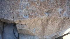 Native american rock carvings Stock Footage