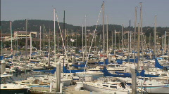 LSMontereyHarbor pan Stock Footage