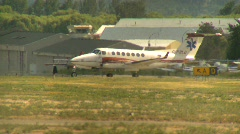 Aircraft, air ambulance twin prop  Stock Footage
