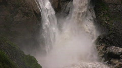 The Agoyan Waterfall in the Pastaza Valley Stock Footage