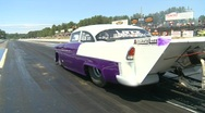 Stock Video Footage of motorsports, drag racing promod launch '55 Chev