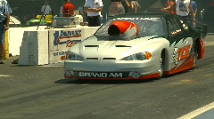 Motorsports, drag racing Prostock launch, whip pan Stock Footage