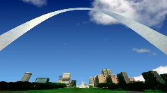 db st louis arch - stock footage