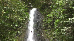 Waterfall in tropical rainforest Stock Footage